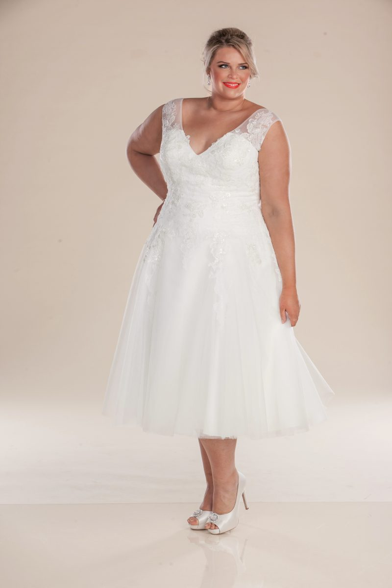 London short wedding dress