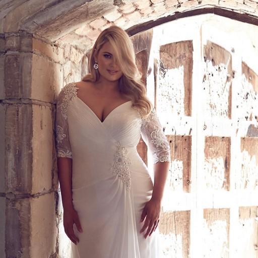 Odessa Plus size wedding dress